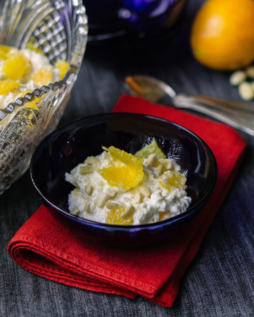 ris à la malta -- swedish rice pudding with orange
