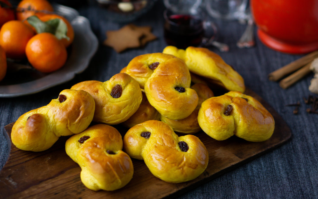 Swedish saffron buns for St Lucy's Day