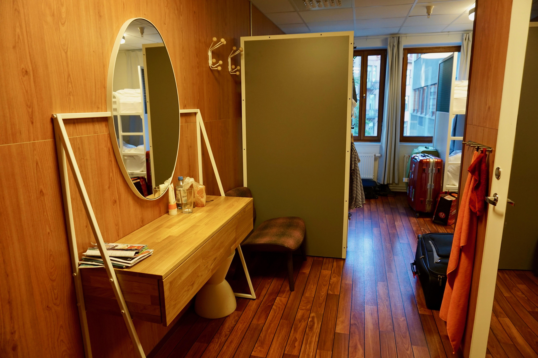hallway in dormitory hostel generator stockholm
