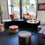 hang out area in reception, at city backpackers hostel