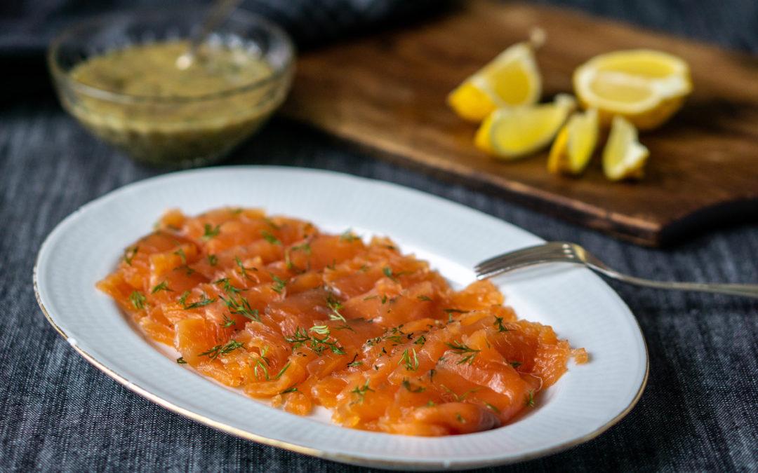 Gravlax — Swedish cured salmon with dill