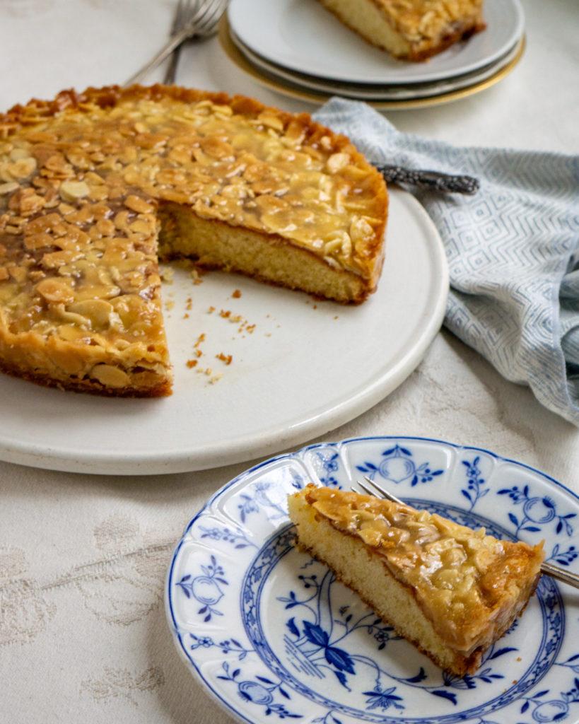 swedish almond caramel cake — toscakaka, or tosca cake